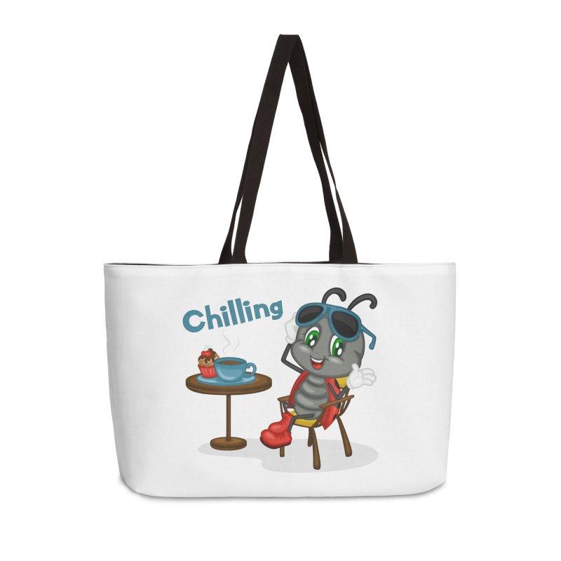 Ladybug Chilling Accessories Weekender Bag Bag by BubaMara's Artist Shop