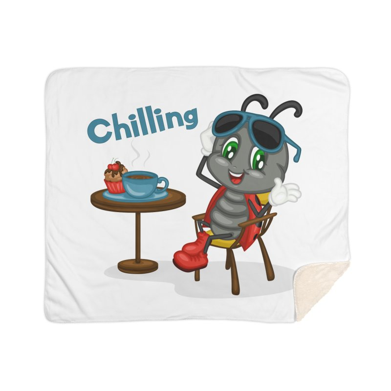 Ladybug Chilling Home Sherpa Blanket Blanket by BubaMara's Artist Shop