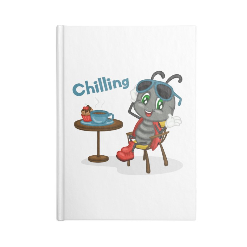 Ladybug Chilling Accessories Lined Journal Notebook by BubaMara's Artist Shop