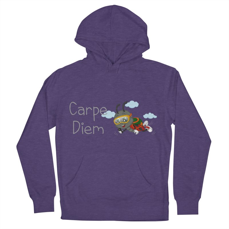 Ladybug Carpe Diem Men's French Terry Pullover Hoody by BubaMara's Artist Shop