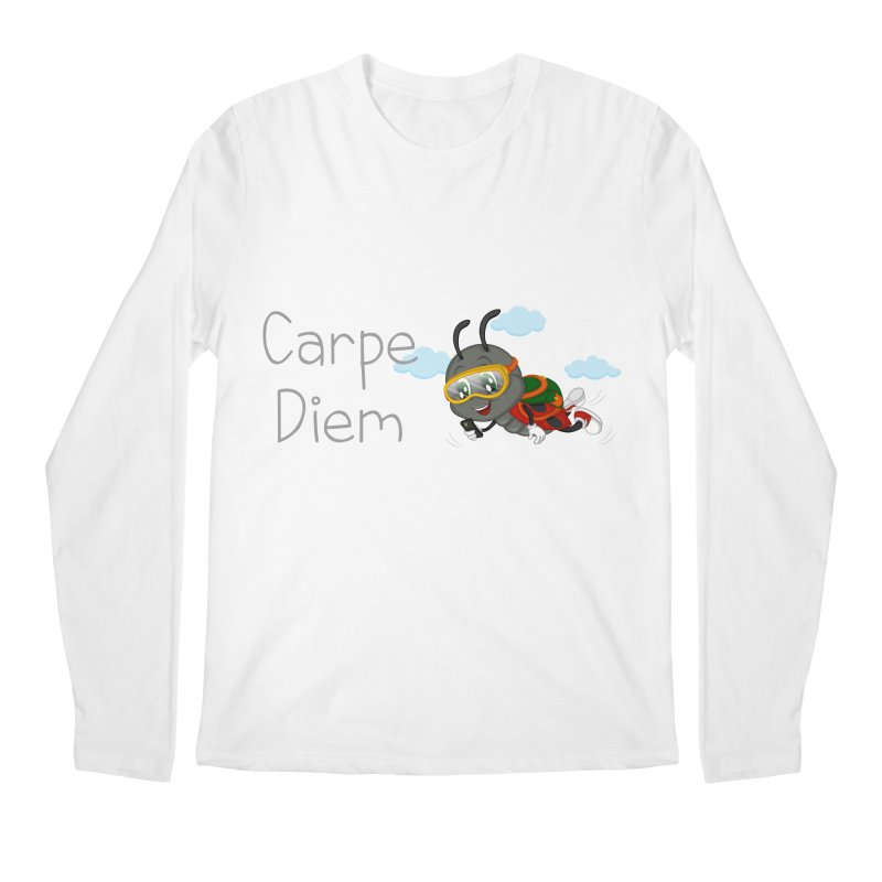 Ladybug Carpe Diem Men's Regular Longsleeve T-Shirt by BubaMara's Artist Shop