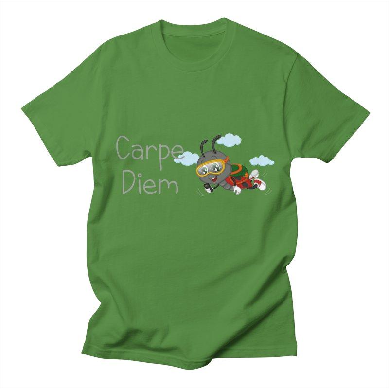 Ladybug Carpe Diem Men's Regular T-Shirt by BubaMara's Artist Shop