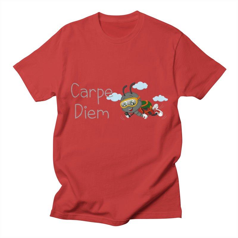 Ladybug Carpe Diem Women's Regular Unisex T-Shirt by BubaMara's Artist Shop