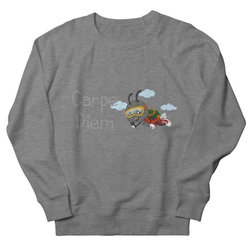Ladybug Carpe Diem Men's French Terry Sweatshirt by BubaMara's Artist Shop