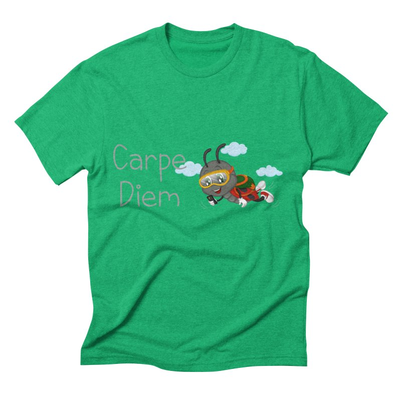 Ladybug Carpe Diem Men's Triblend T-Shirt by BubaMara's Artist Shop