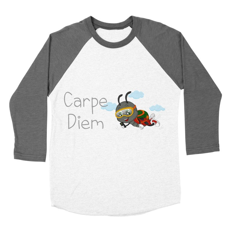 Ladybug Carpe Diem Women's Baseball Triblend Longsleeve T-Shirt by BubaMara's Artist Shop