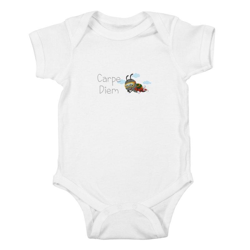 Ladybug Carpe Diem Kids Baby Bodysuit by BubaMara's Artist Shop