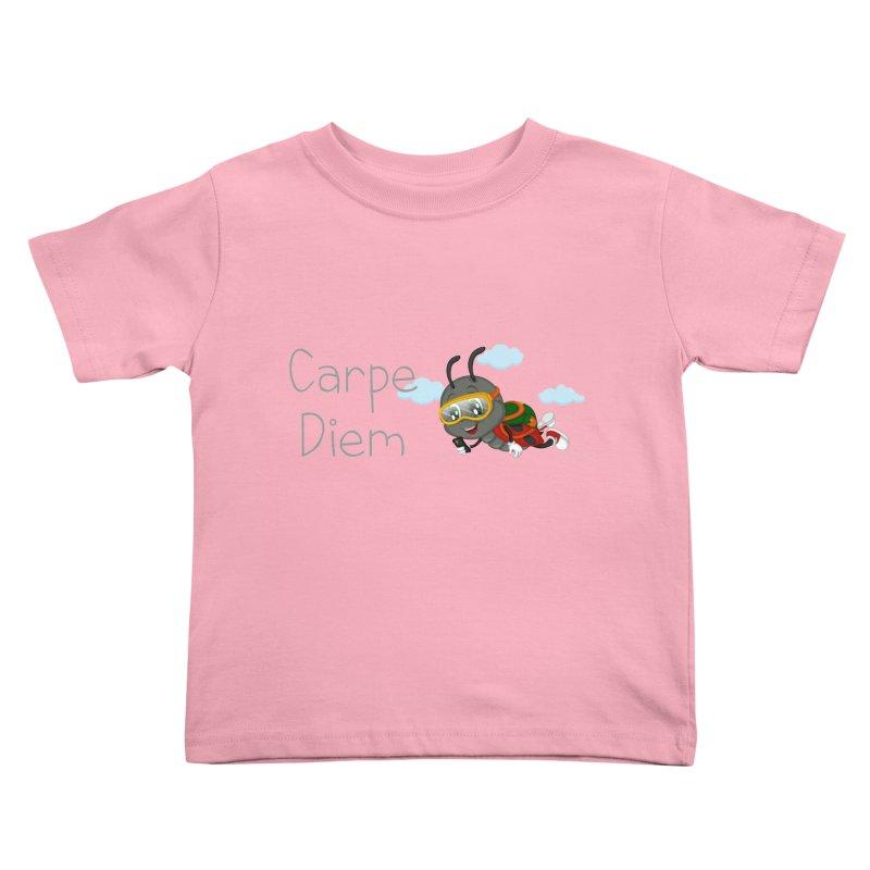 Ladybug Carpe Diem Kids Toddler T-Shirt by BubaMara's Artist Shop