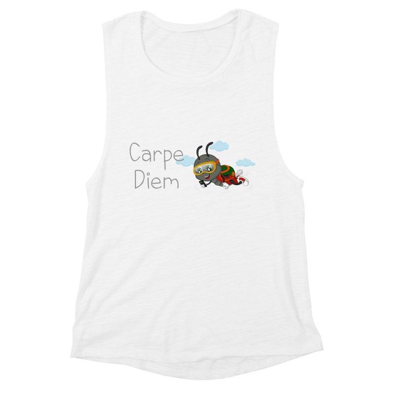Ladybug Carpe Diem Women's Muscle Tank by BubaMara's Artist Shop