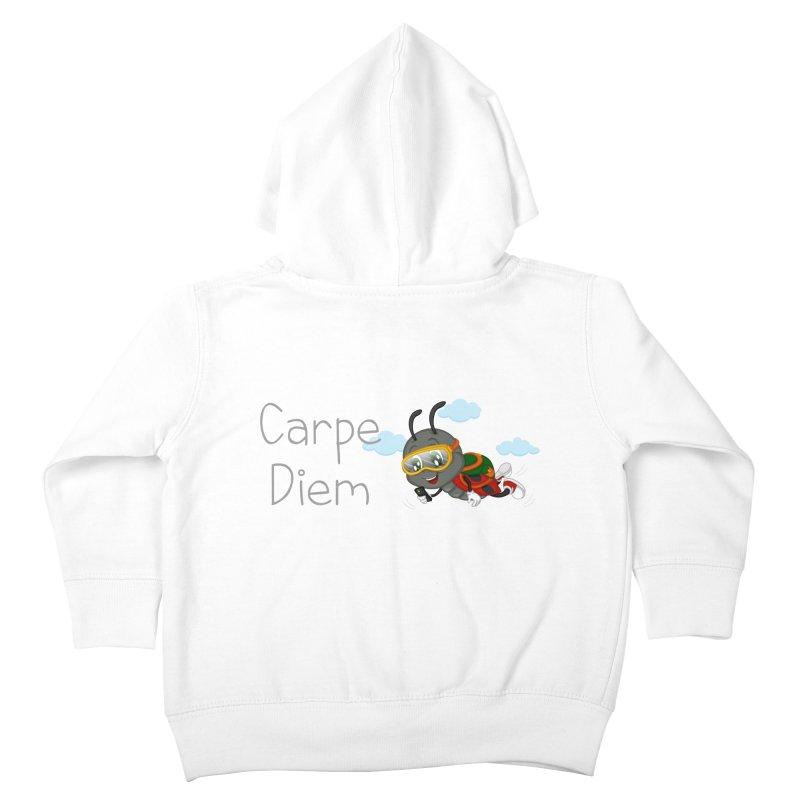 Ladybug Carpe Diem Kids Toddler Zip-Up Hoody by BubaMara's Artist Shop