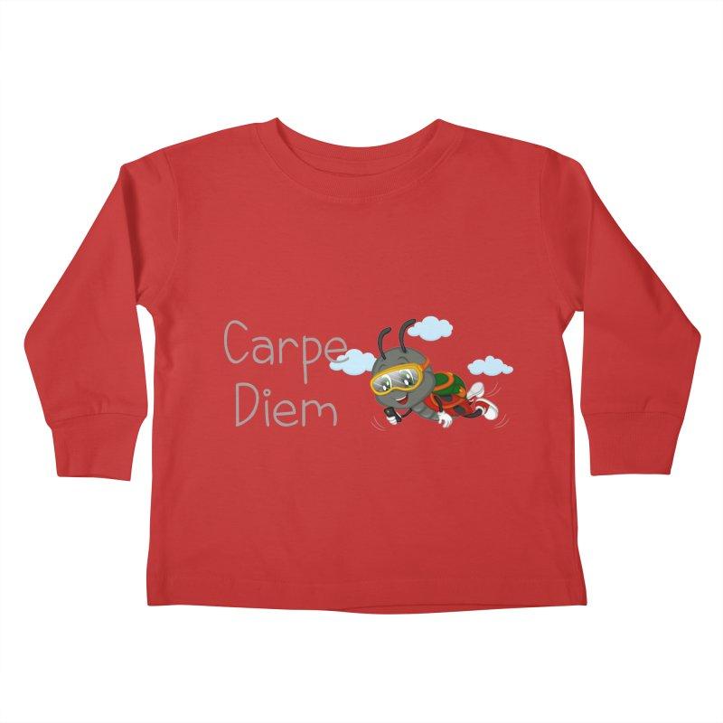 Ladybug Carpe Diem Kids Toddler Longsleeve T-Shirt by BubaMara's Artist Shop