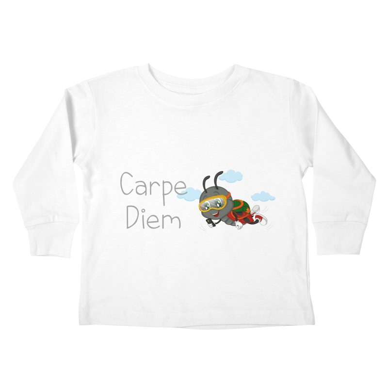 Ladybug Carpe Diem Kids Toddler Longsleeve T-Shirt by BubaMara's Artist Shop