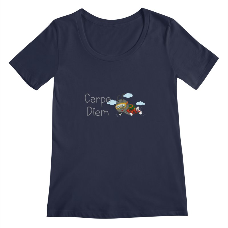 Ladybug Carpe Diem Women's Scoopneck by BubaMara's Artist Shop