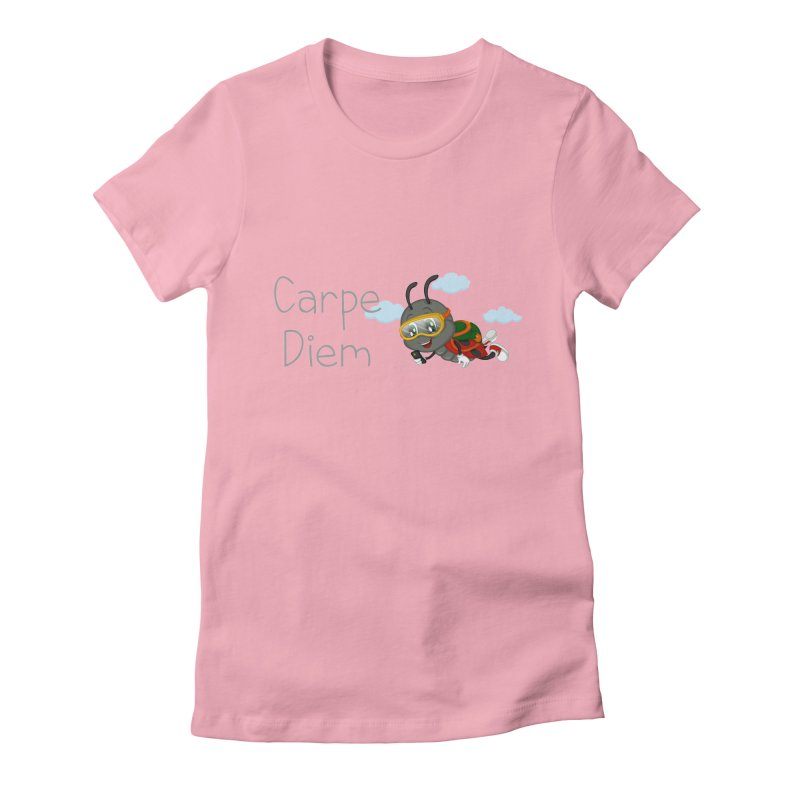 Ladybug Carpe Diem Women's Fitted T-Shirt by BubaMara's Artist Shop