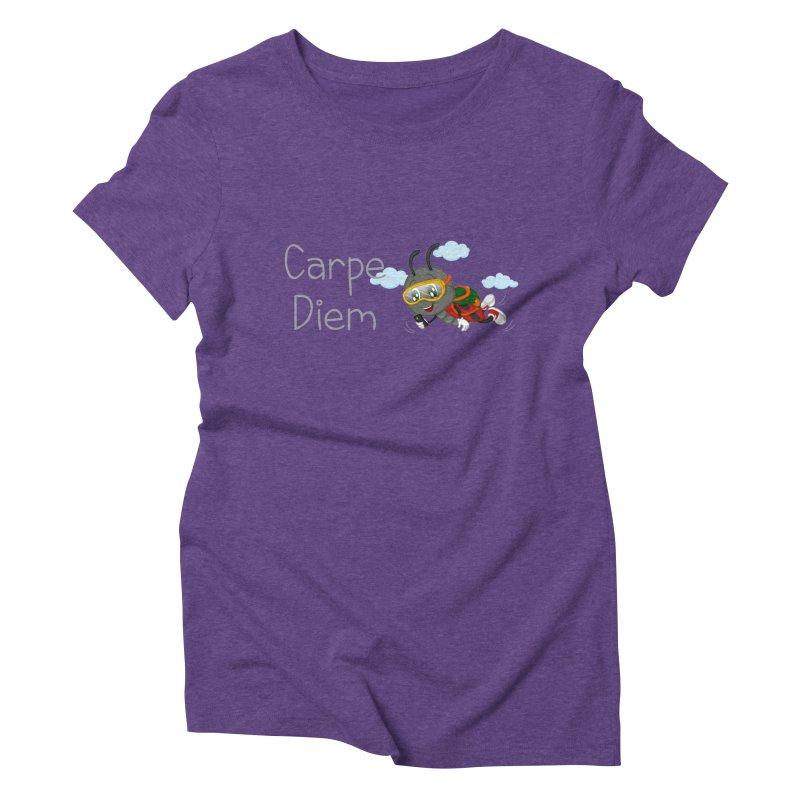 Ladybug Carpe Diem Women's Triblend T-Shirt by BubaMara's Artist Shop