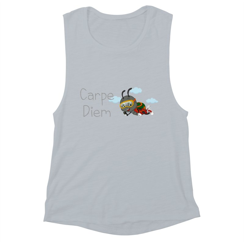 Ladybug Carpe Diem Women's Muscle Tank by BubaMara's Artist Shop