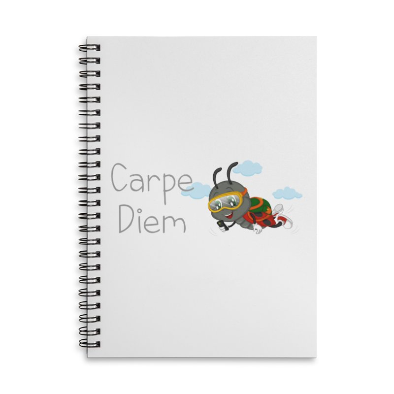 Ladybug Carpe Diem Accessories Lined Spiral Notebook by BubaMara's Artist Shop