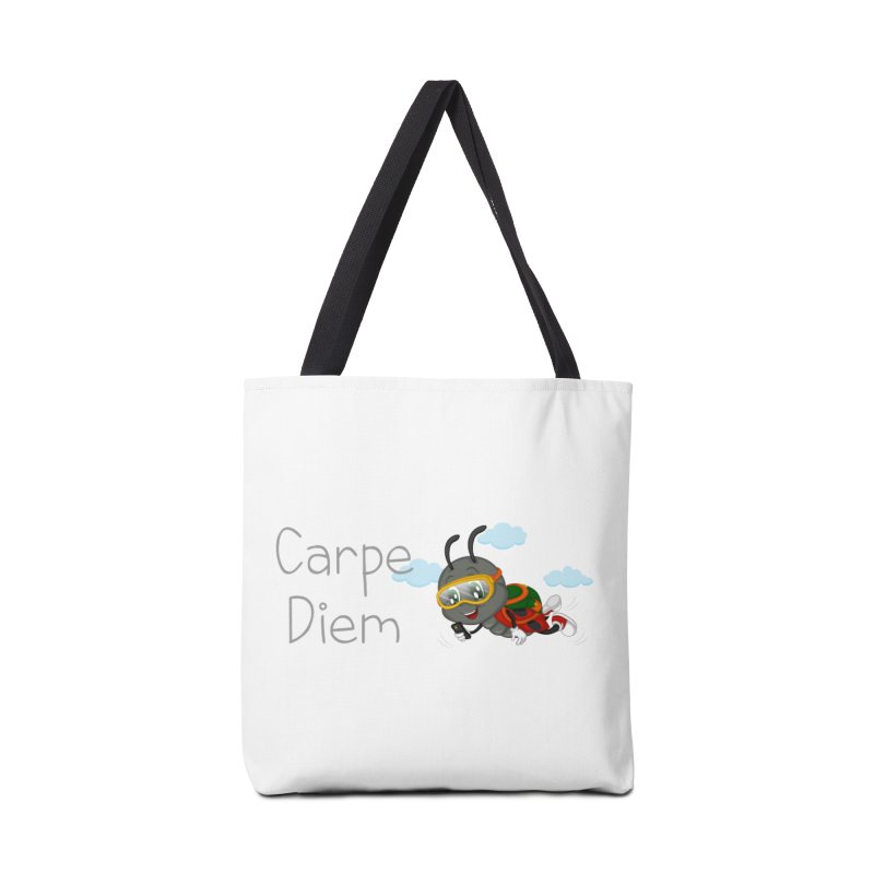 Ladybug Carpe Diem Accessories Tote Bag Bag by BubaMara's Artist Shop