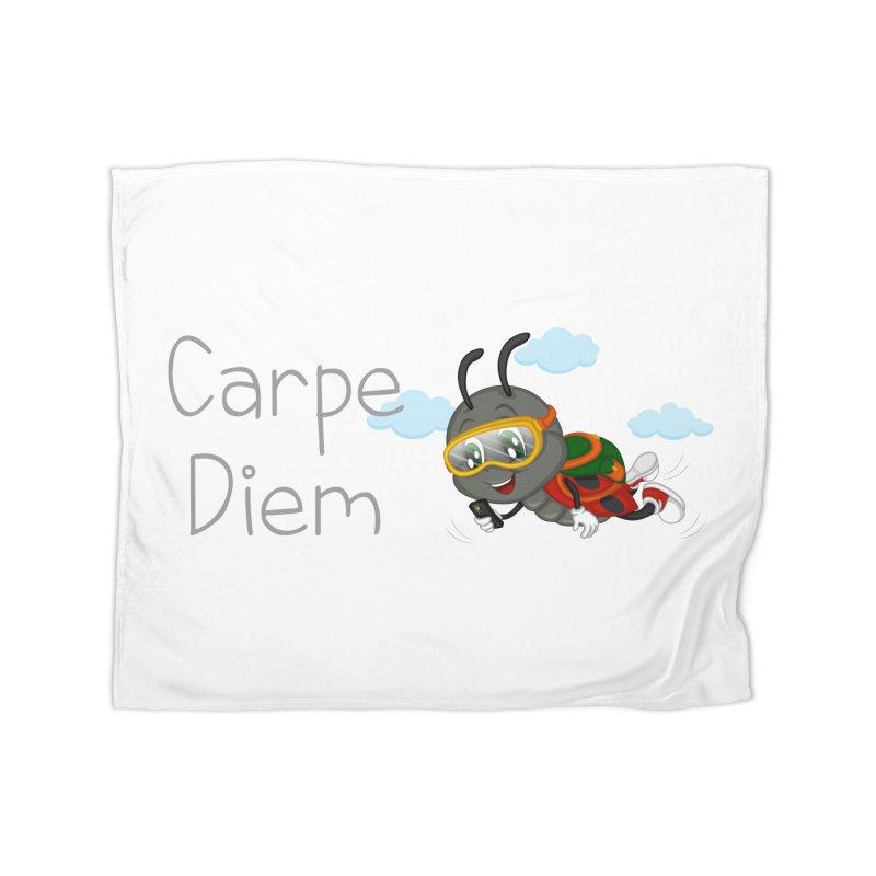 Ladybug Carpe Diem Home Fleece Blanket Blanket by BubaMara's Artist Shop