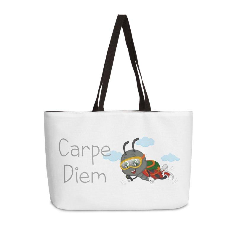 Ladybug Carpe Diem Accessories Weekender Bag Bag by BubaMara's Artist Shop