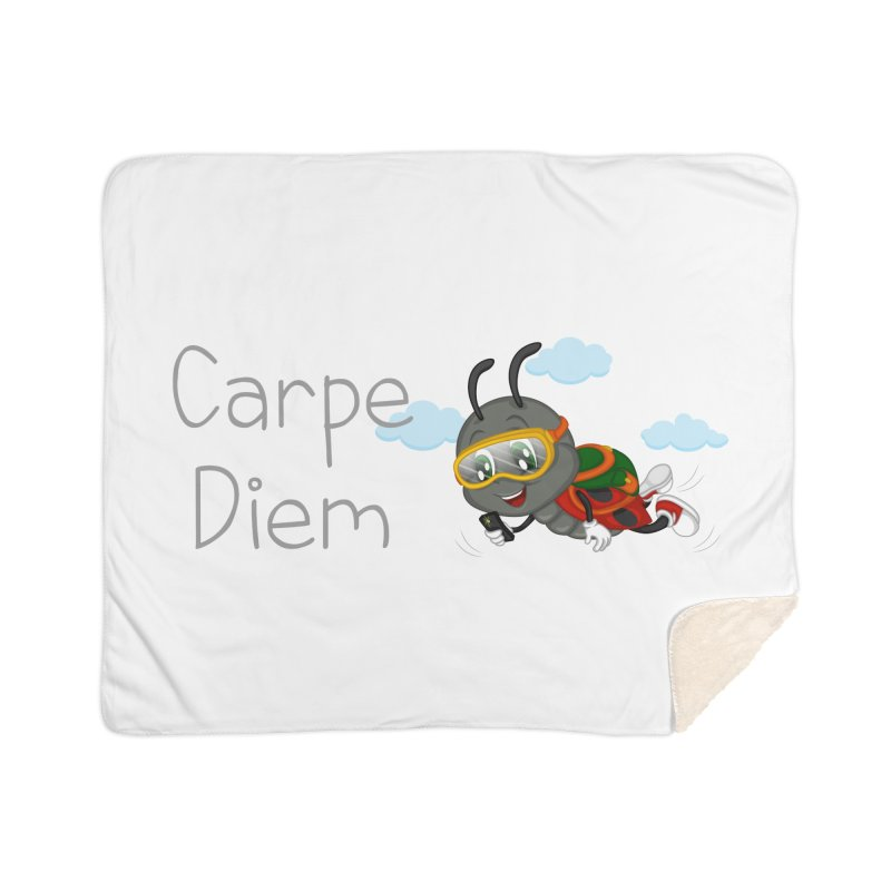 Ladybug Carpe Diem Home Sherpa Blanket Blanket by BubaMara's Artist Shop
