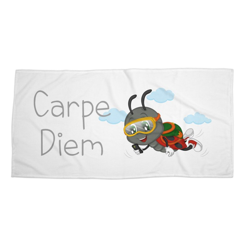 Ladybug Carpe Diem Accessories Beach Towel by BubaMara's Artist Shop