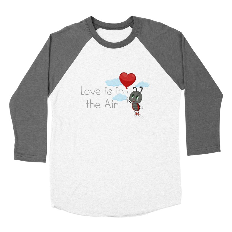 Ladybug Love is in the Air Women's Baseball Triblend Longsleeve T-Shirt by BubaMara's Artist Shop