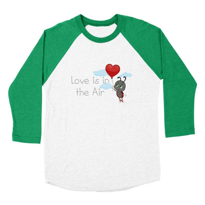 Ladybug Love is in the Air Men's Baseball Triblend Longsleeve T-Shirt by BubaMara's Artist Shop