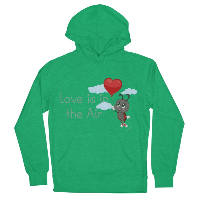 Ladybug Love is in the Air Women's Pullover Hoody by BubaMara's Artist Shop