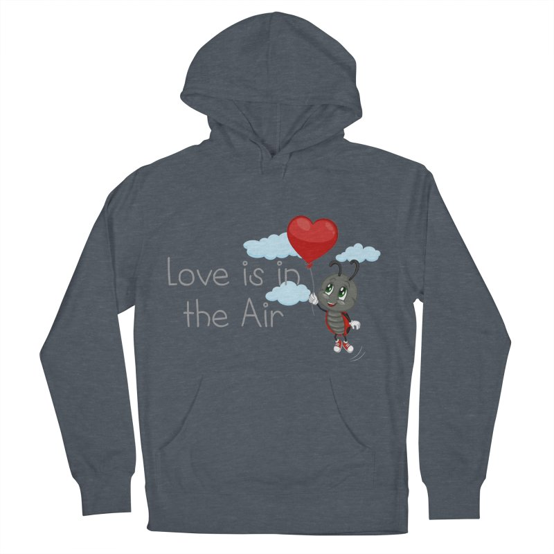 Ladybug Love is in the Air Women's French Terry Pullover Hoody by BubaMara's Artist Shop