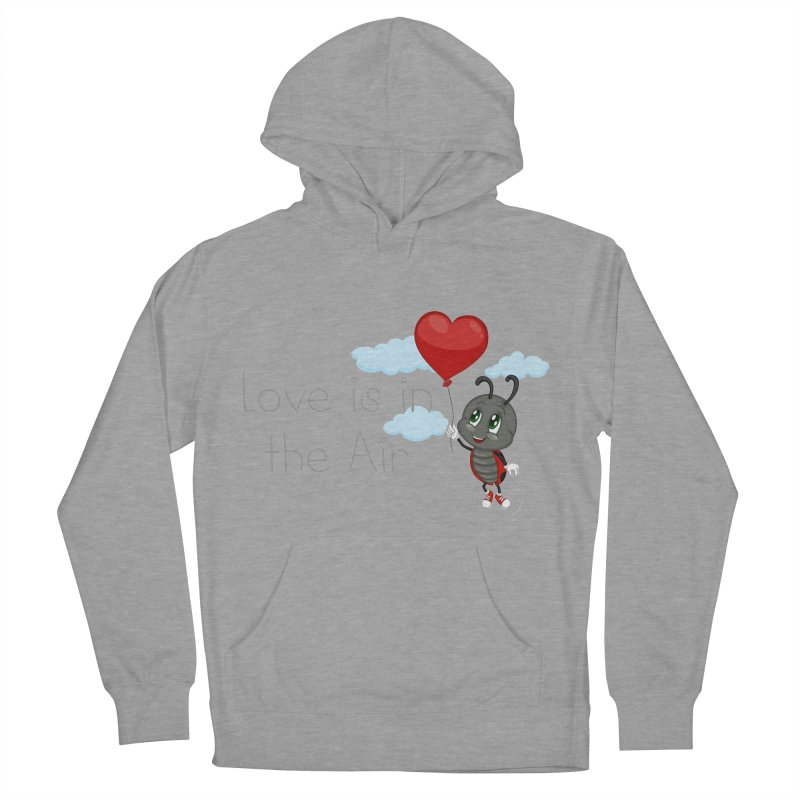 Ladybug Love is in the Air Men's French Terry Pullover Hoody by BubaMara's Artist Shop