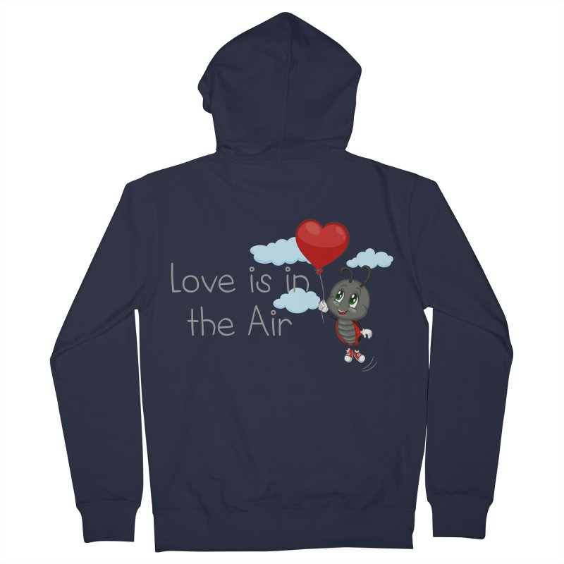 Ladybug Love is in the Air Women's French Terry Zip-Up Hoody by BubaMara's Artist Shop