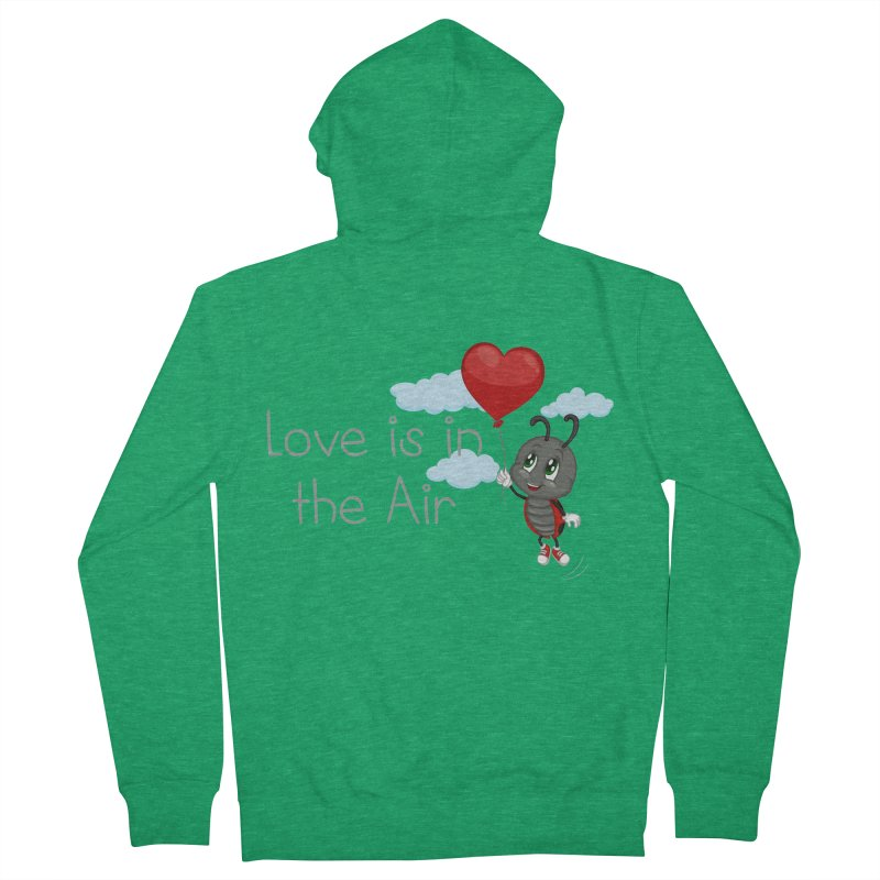 Ladybug Love is in the Air Men's Zip-Up Hoody by BubaMara's Artist Shop
