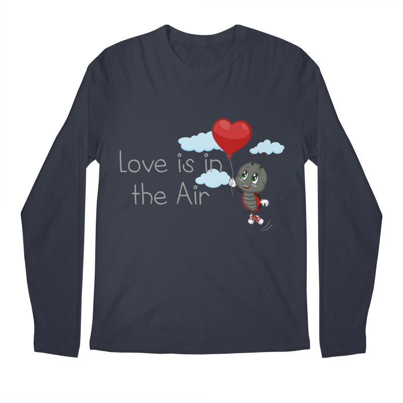 Ladybug Love is in the Air Men's Regular Longsleeve T-Shirt by BubaMara's Artist Shop