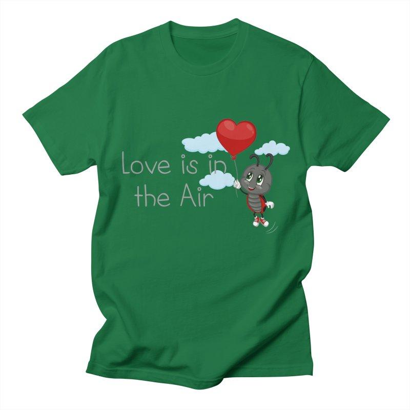 Ladybug Love is in the Air Men's Regular T-Shirt by BubaMara's Artist Shop
