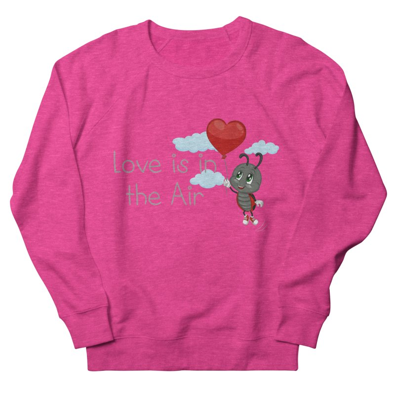 Ladybug Love is in the Air Women's French Terry Sweatshirt by BubaMara's Artist Shop