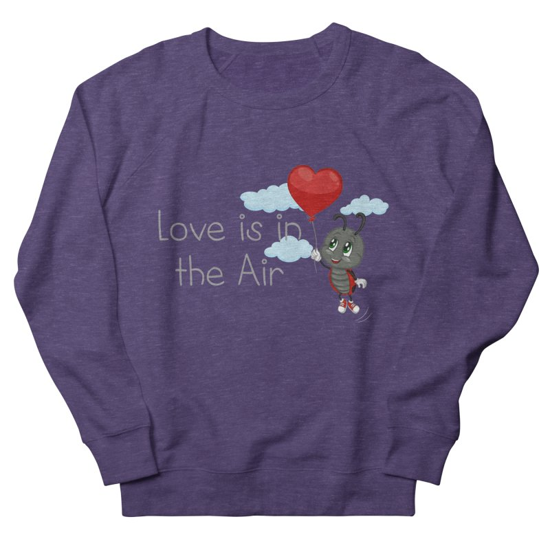 Ladybug Love is in the Air Men's French Terry Sweatshirt by BubaMara's Artist Shop