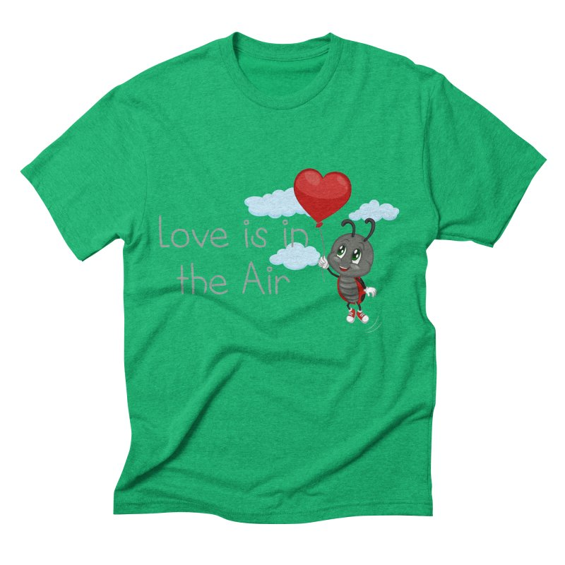 Ladybug Love is in the Air Men's Triblend T-Shirt by BubaMara's Artist Shop