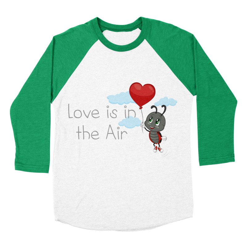 Ladybug Love is in the Air Women's Baseball Triblend Longsleeve T-Shirt by BubaMara's Artist Shop