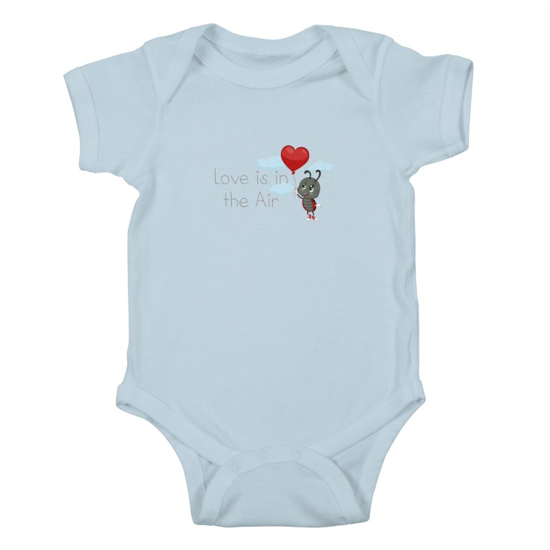 Ladybug Love is in the Air Kids Baby Bodysuit by BubaMara's Artist Shop
