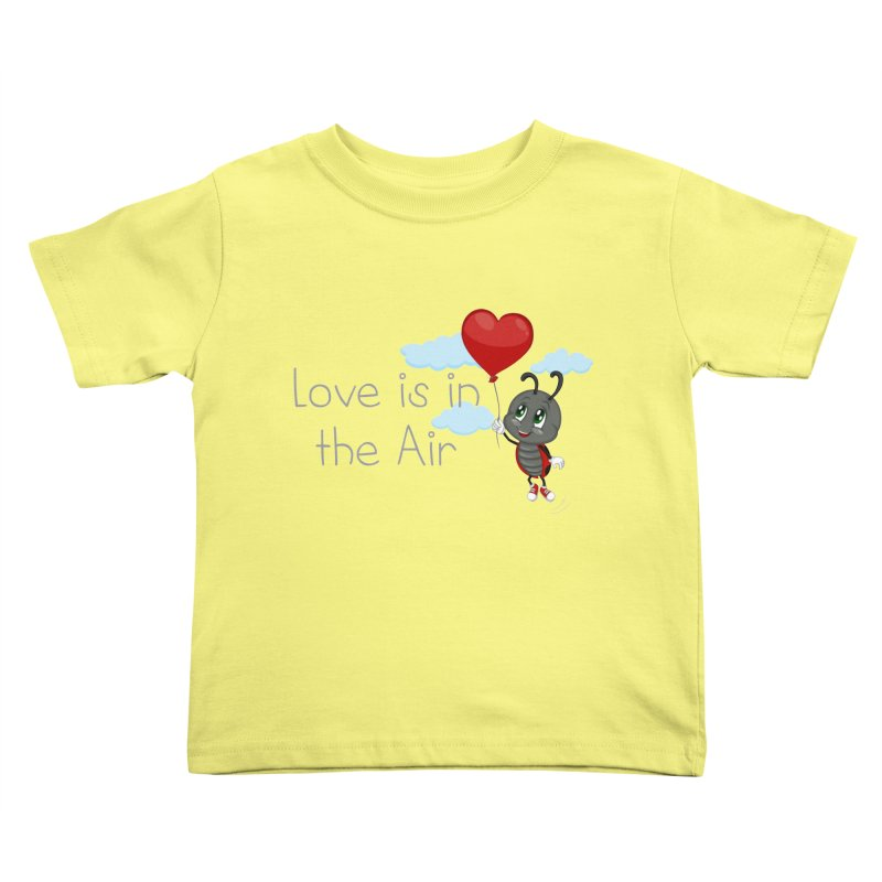 Ladybug Love is in the Air Kids Toddler T-Shirt by BubaMara's Artist Shop