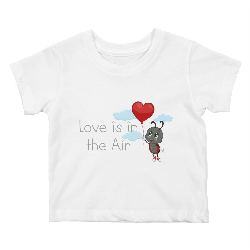 Ladybug Love is in the Air Kids Baby T-Shirt by BubaMara's Artist Shop