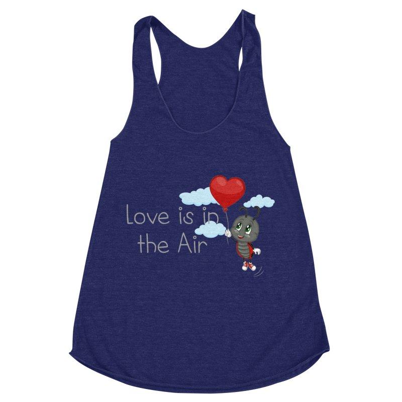 Ladybug Love is in the Air Women's Racerback Triblend Tank by BubaMara's Artist Shop