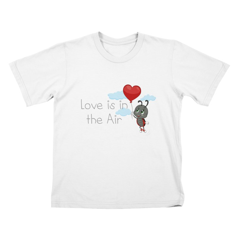 Ladybug Love is in the Air Kids T-shirt by BubaMara's Artist Shop