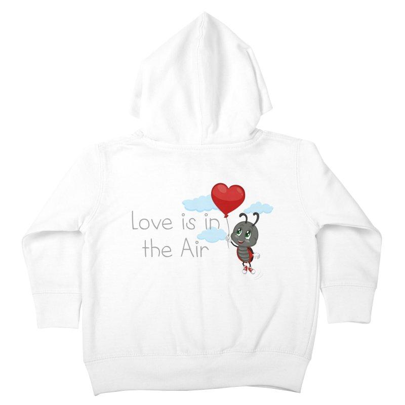 Ladybug Love is in the Air Kids Toddler Zip-Up Hoody by BubaMara's Artist Shop