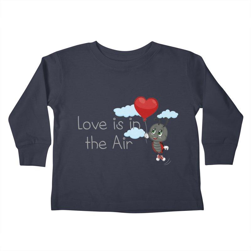 Ladybug Love is in the Air Kids Toddler Longsleeve T-Shirt by BubaMara's Artist Shop