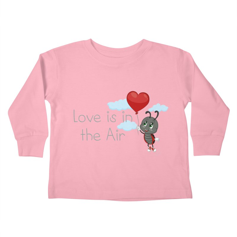 Ladybug Love is in the Air Kids Toddler Longsleeve T-Shirt by BubaMara's Artist Shop