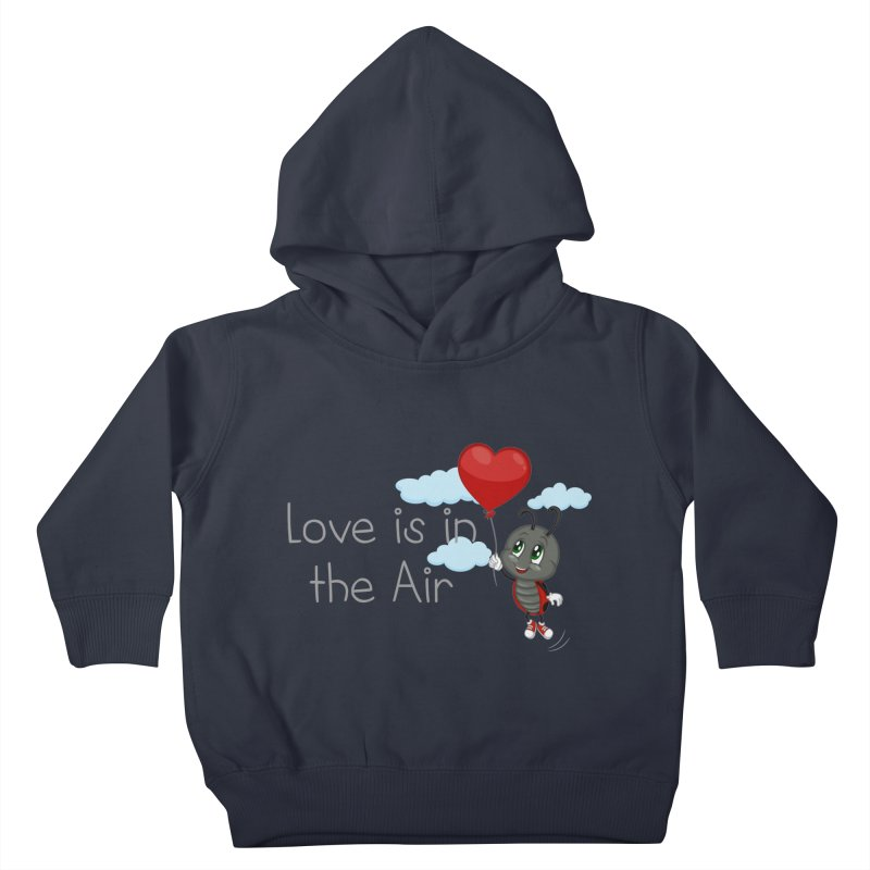 Ladybug Love is in the Air Kids Toddler Pullover Hoody by BubaMara's Artist Shop