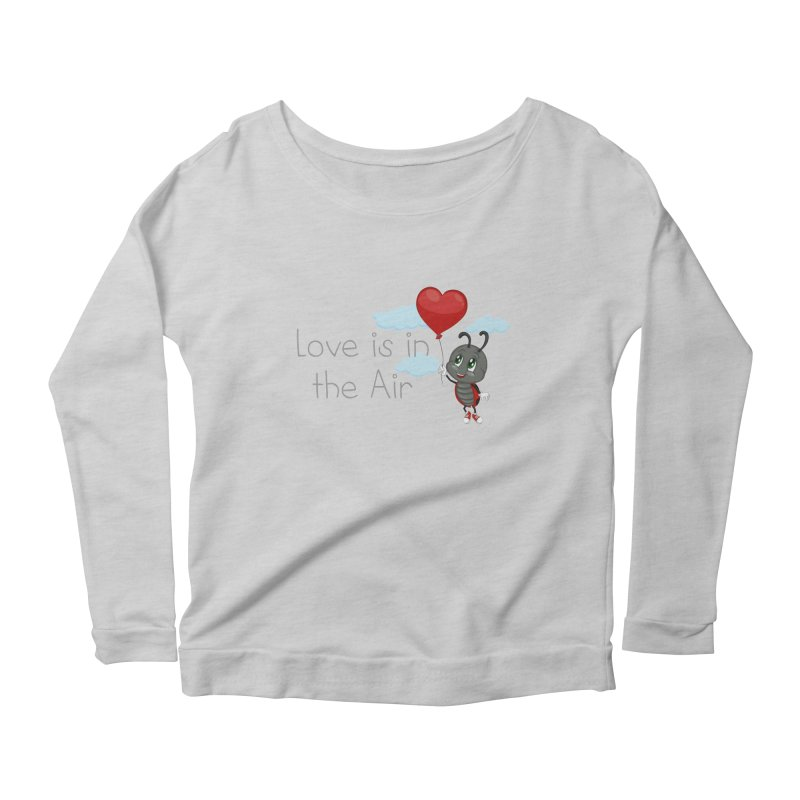 Ladybug Love is in the Air Women's Scoop Neck Longsleeve T-Shirt by BubaMara's Artist Shop