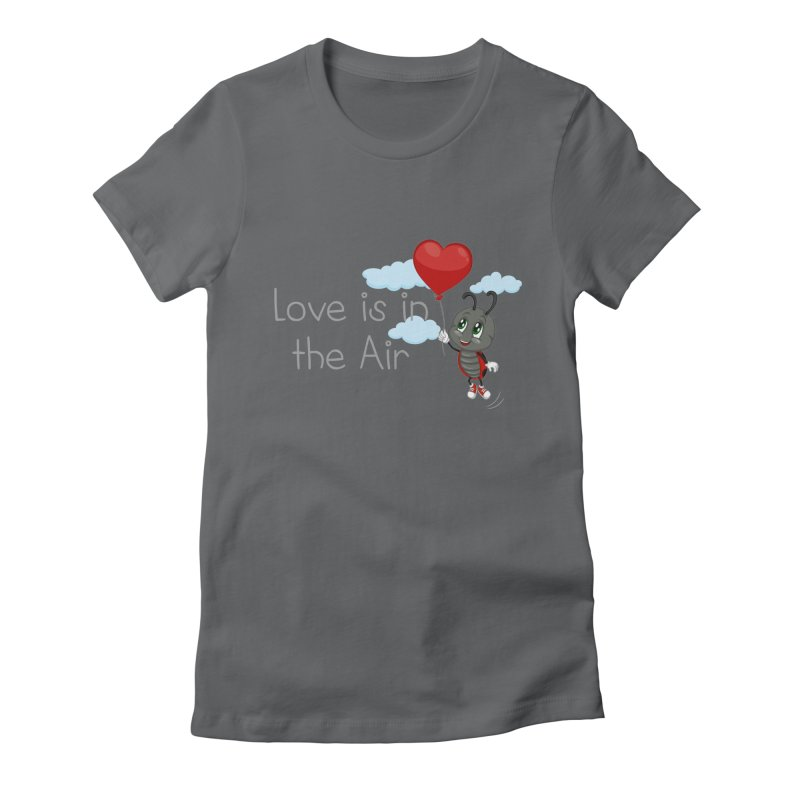 Ladybug Love is in the Air Women's Fitted T-Shirt by BubaMara's Artist Shop